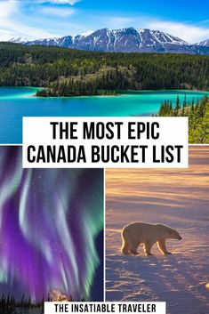 The Most Epic Canada Bucket List 10 most beautiful places in Canada for epic views. This is an amazing Canada Bucket List ! Quebec, Cool Places To Visit, Places To Travel, Alberta Canada, Canada Vancouver, Vancouver Travel, Canada Destinations, Vacation Destinations, Vacations