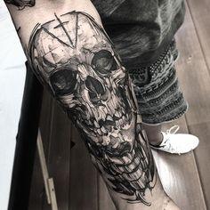Skull do Andre valeu man Feito na @inkonik_tattoo_studio #electricink