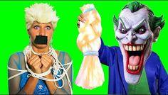 Spiderman vs Frozen Elsa Cuts Hair! Joker PRANK w:/ Maleficent Pink Spidergirl! Funny Superheroes