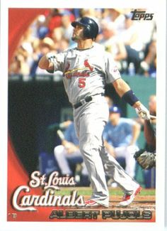 2010 Topps Baseball Card #100 Albert Pujols St. Louis Cardinals - Mint Condition - Shipped In Protective ScrewDown Display Case! by Topps. $0.01. The more singles you buy, the more you save on shipping!. NOTE: Stock Image Used!. Card is shipped in a protective screwdown case to preserve its MINT condition!. Check back weekly, as we are always adding more inventory!!. Great looking, collectible 2010 Topps Baseball Card!!. 2010 Topps Baseball Card #100 Albert Pujols St. Lou...