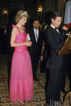 .April 20 1985 Diana, Princess of Wales, visit La Scala Opera House, Milan, Italy.