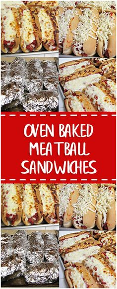 Oven Baked Meatball Sandwiches #meatball #sandwiches #homecooking #cooking #cookingtips