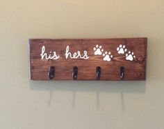 His Hers & the Dog's / Entryway Key Hooks Ships within by CestlEvi