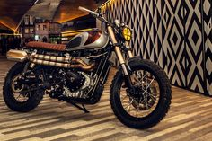 """The Crane"" custom Triumph Motorcycles Scrambler by Ton-Up Garage in Portugal."
