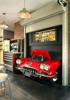 For The Ultimate woman Cave! Car Part Furniture, Automotive Furniture, Automotive Decor, Furniture Design, Automotive Garage, Furniture Plans, System Furniture, Automotive Group, Bench Furniture
