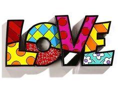 Romero Britto 'Love'♥•♥•♥