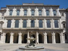 PalaisBarberini-Facade avant du palais - Palazzo Barberini - Wikipedia, the free encyclopedia Palazzo, Baroque Architecture, Classical Architecture, Rome, Kingdom Of Naples, Gian Lorenzo Bernini, Famous Architects, Italy, House Styles