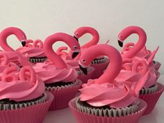 Visit the post for more. Flamingo Cupcakes, Pink Flamingo Party, Flamingo Birthday, Little Girl Birthday, Birthday Cake Girls, Birthday Parties, Cake Pops, Aloha Party, Tropical Party