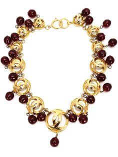 CHANEL VINTAGE gripoix chocker necklace