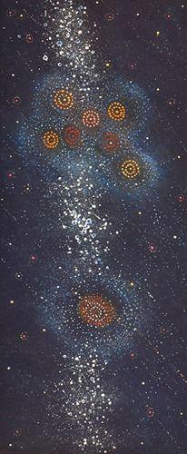 Yanjirlpirri or Napaljarri-Warnu Jukurrpa (Star or Seven Sisters Dreaming) by Alma Nungarrayi Granites Aboriginal Painting, Aboriginal Artists, Indigenous Australian Art, Indigenous Art, Mandala Painting, Dot Painting, Haitian Art, Painting Templates, Aboriginal Culture