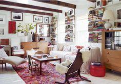 Photographer Laura Resen's upstate living room