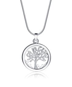 Look at this Silvertone Tree of Life Necklace Made with SWAROVSKI ELEMENTS on #zulily today!