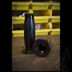 "Retro Black ""Solid"" Barrel Style Grips"