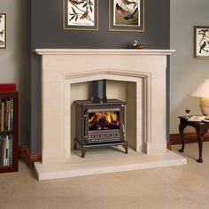 Excellent Pics Fireplace Hearth limestone Thoughts Terrific Absolutely Free Fireplace Hearth limestone Tips fire surrounds for stoves Wood Burner Fireplace, Wood Burning Fireplace Inserts, Limestone Fireplace, Fireplace Hearth, Fireplace Surrounds, Fireplace Design, Fireplaces, Fireplace Ideas, Log Burner Living Room