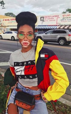 Winnie Harlow be slaying in Tommy Hilfiger Vintage Outfits, Retro Outfits, Trendy Outfits, Cute Outfits, Summer Outfits, Summer Ootd, Summer Fall, Fall Winter, Fashion Killa