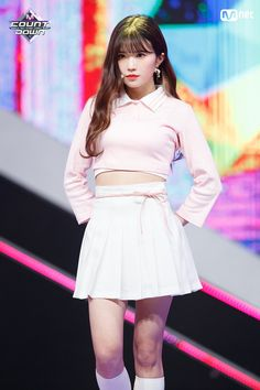 190103 Hayoung @ M! South Korean Girls, Korean Girl Groups, Stage Outfits, Pop Group, Rapper, High Waisted Skirt, Mini Skirts, Fandom, Entertainment