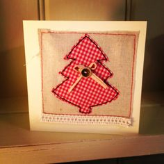 Lisa at Sew Blue Poppy gave to me .....     a fabric Christmas card tutorial          Lisa creates beautiful handmade fabricgifts using f...