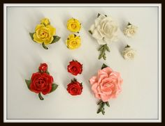 vintage LOT of Celluloid Early Plastic Rose by wardrobetheglobe, $88.00