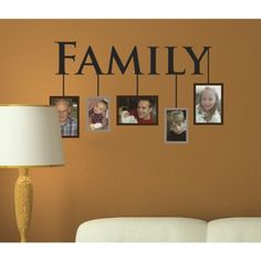 Peel & Stick Reusable Family Portraits Wall Decal