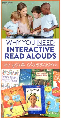 Why You need Interactive Read Aloud Time in your Classroom! See the importance of an engaging, interactive read aloud and how to plan your own lesson. You can also grab a FREE lesson planning template and lesson to try in your classroom!