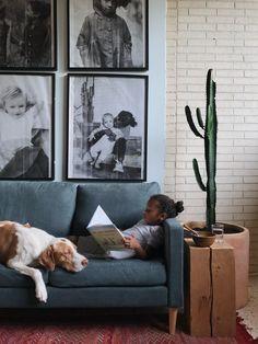 Our sofa in Billy Jack Brawner's living room.