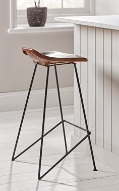 Ideas for the House Kitchen Stools, Wooden Bar Stools, Kitchen Counter & Breakfast Bar Stools UK You Wicker Counter Stools, Bar Stools Uk, Modern Counter Stools, Industrial Bar Stools, Stools For Kitchen Island, Wooden Bar Stools, Leather Bar Stools, Modern Stools, Industrial Style