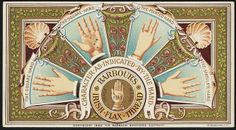 Palmistry Characteristics as Indicated by Hand Barbour's Irish Flax Thread Binder Labels, The Hanged Man, Boston Public Library, Hand Shapes, Children Images, Historical Society, Barbour, Vintage Images