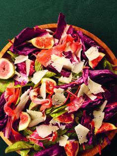 Perfect starter recipe - Red-Leaf, Fig and Serrano Ham Salad - Nigella Lawson
