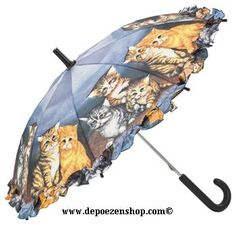 umbrellas and related shoppingbags with cats