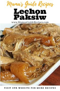 This is the authentic way to cook lechon paksiw. An authentic Lechon paksiw doesn't need to add soy sauce or otherwise it will turn like adobo.