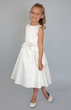 Us Angels Peplum Brocade Dress (Toddler Girls, Little Girls & Big Girls) available at #Nordstrom