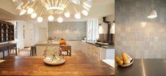 Arior Design - Bespoke shaker Kitchen, Moooi light, jelly mould lights, concrete worktop, stainless steel worktop