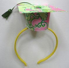 Graduation cap headband by cathryn