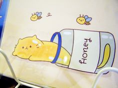 Cat as honey, illustration Design Festa. COME LOOK AT MY OTHER BOARDS I HAVE CRAFTING, KAWAII, MAKEUP, COOKING, DOLL, COOL/LOL, ANIMALS MANY MORE AWSOME THINGS!!! follow today