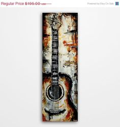 Valentines Day Sale Guitar painting Acoustic by MagierFineArt