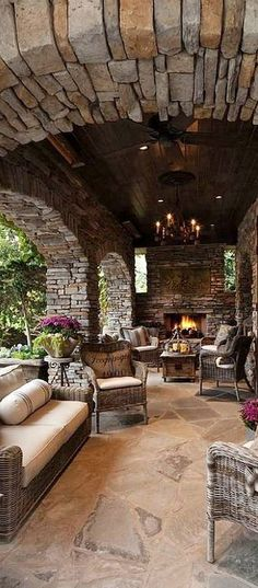 Outdoor patio ideas Backyard ideas Outdoor kitchen Outdoor kitchen ideas Outdoor living space kitchen and pool covered patios Outdoor Seating Areas, Outdoor Living Areas, Outdoor Rooms, Living Spaces, Living Rooms, Floor Seating, Patio Seating, Indoor Outdoor, Rustic Outdoor Kitchens