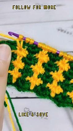 Crochet Purse Patterns, Crochet Purses, Crochet Scarves, Crochet Clothes, Tunisian Crochet, Learn To Crochet, Free Crochet, Knit Crochet, Crochet Crafts