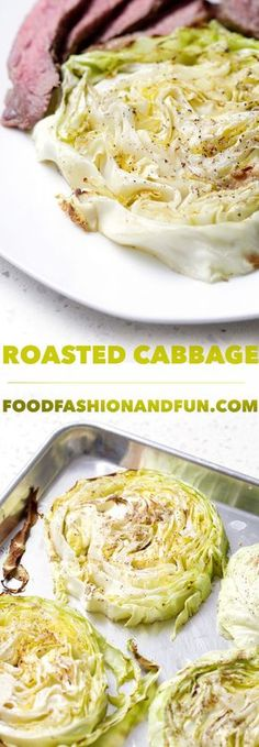 This 4-ingredient Roasted Cabbage that is a delicious and easy as a side to corned beef or steak. This recipe is allergy friendly, AIP, paleo and vegan.