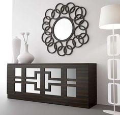 Diy sunburst ceiling medallion ikea honefoss mirrors for Espejo hexagonal ikea
