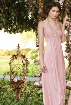 Sheer jersey empire waist dress with pearl beading.Perfect as a Prom Dress, Wedding Guest Dress, Bridesmaids Dress, and for all other special occasions.