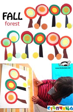 Autumn forest for toddler