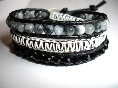 Calm Before The Storm Leather Wrap Bracelet