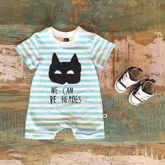 BABY • Minti baby heroes jumpsuit (last two!) & Converse Baby Chucks. Available at Tiny Style in Noosa & online •  www.tinystyle.com.au