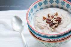 Paleo Banana Nut Porridge and other Breakfast bowls-- some of these combos look delicious! Break the breakfast rut. Whole 30 Breakfast, Paleo Breakfast, Breakfast Bowls, Breakfast Recipes, Breakfast Porridge, Breakfast Ideas, Banana Breakfast, Breakfast Cereal, Paleo Recipes