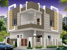 south indian home temple design using upvc entrance door and best house paint for exterior for small shed roof modern house plans - Best Home Interior Design Bungalow House Design, House Front Design, Minimalist House Design, Modern House Design, Indian House Exterior Design, Indian House Plans, Independent House, Architectural House Plans, House Elevation