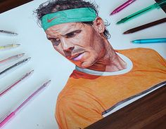 """Check out new work on my @Behance portfolio: """"Rafael Nadal Ballpoint Pen Drawing"""" http://be.net/gallery/40493037/Rafael-Nadal-Ballpoint-Pen-Drawing"""