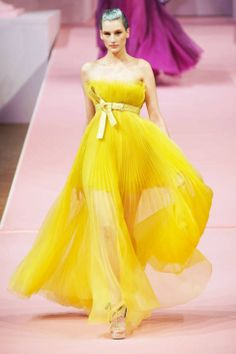 Alexis Mabille Spring 2013 Couture #brightyellow
