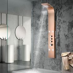 Canso Thermostatic Stainless Steel Shower Panel with Hand Shower