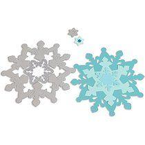 Sizzix Framelits Dies 3/Pkg-Snowflakes