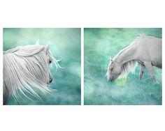 Set of 2 Fantasy art surreal horse photo by MitchMcfarlanePhotos